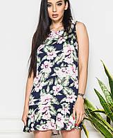 Женское котоновое платьес цветами (8059br)
