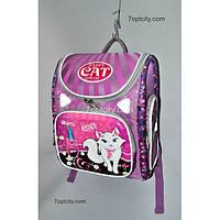 Рюкзак школьный ( спиннер в подарок) для девочки Трансформер Cat G1608-A1a