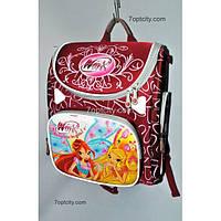 Рюкзак школьный ( спиннер в подарок) для девочки Трансформер Winx G1608-A4a