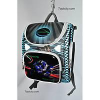 Рюкзак школьный ( спиннер в подарок) для мальчика Трансформер G1608-A6a