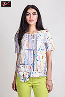 Красивая женская блузка из стрейч - вискозы