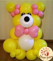 №17 Мишка из шаров 1.1м Днепр, фото 1