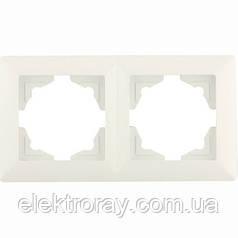 Рамка 2-местная горизонтальная Gunsan Visage белая