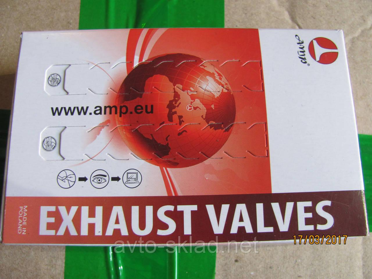 Клапана ВАЗ 2108, 2109, 21099 (1.1-1.5л) 406дв AMP выпуск 4шт (азот)