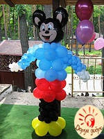 №24 Микки Маус из воздушных шаров 2.5м Днепр, фото 1