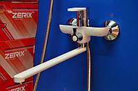 Смеситель для ванной комнаты Zerix Z22223-7(хром-белый)