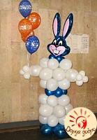 №27 Заяц из воздушных шаров 2.5м Днепр