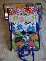 Пляжный коврик -сумка соломенный +фольга. Разные размеры длина 164 см ширина 112 см