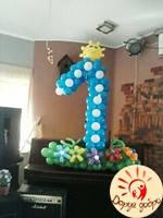 №34 Цифра из воздушных шаров декорированная Днепр