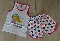 Комплект-шорты и майка на девочку