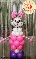 №35 Заяц из воздушных шаров 2,5м Днепр, фото 1
