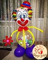 №36 Клоун з повітряних куль 1,2 м Дніпро, фото 1