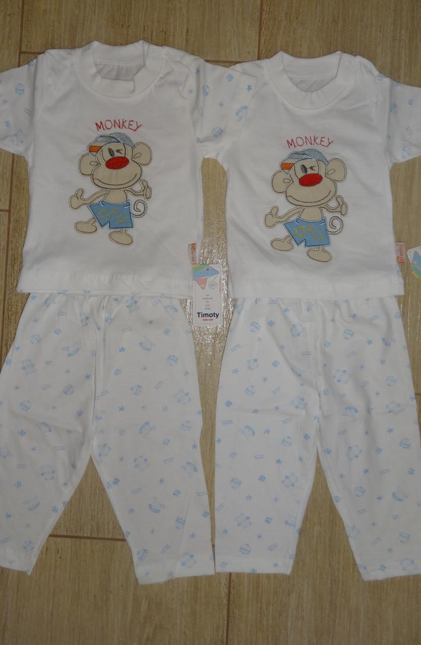 Пижама Обезьянка для маленьких 3 и 6 мес