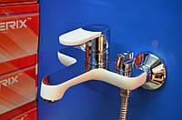 Смеситель для ванной комнаты Zerix Z30223-7(хром-белый)