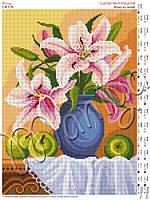 Схема для вышивания бисером Букет из лилий (полная зашивка)