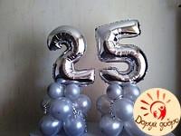 №15 Фольгированные цифры на подставке из шаров 1.1м Днепр
