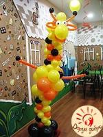 №21 Жираф из воздушных шаров 2.5м Днепр