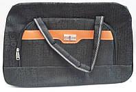 Сумка хозяйственная с наружным карманом, черная, 53*34*15см