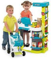 Интерактивный супермаркет Smoby City Shop с тележкой, продуктами и аксессуарами