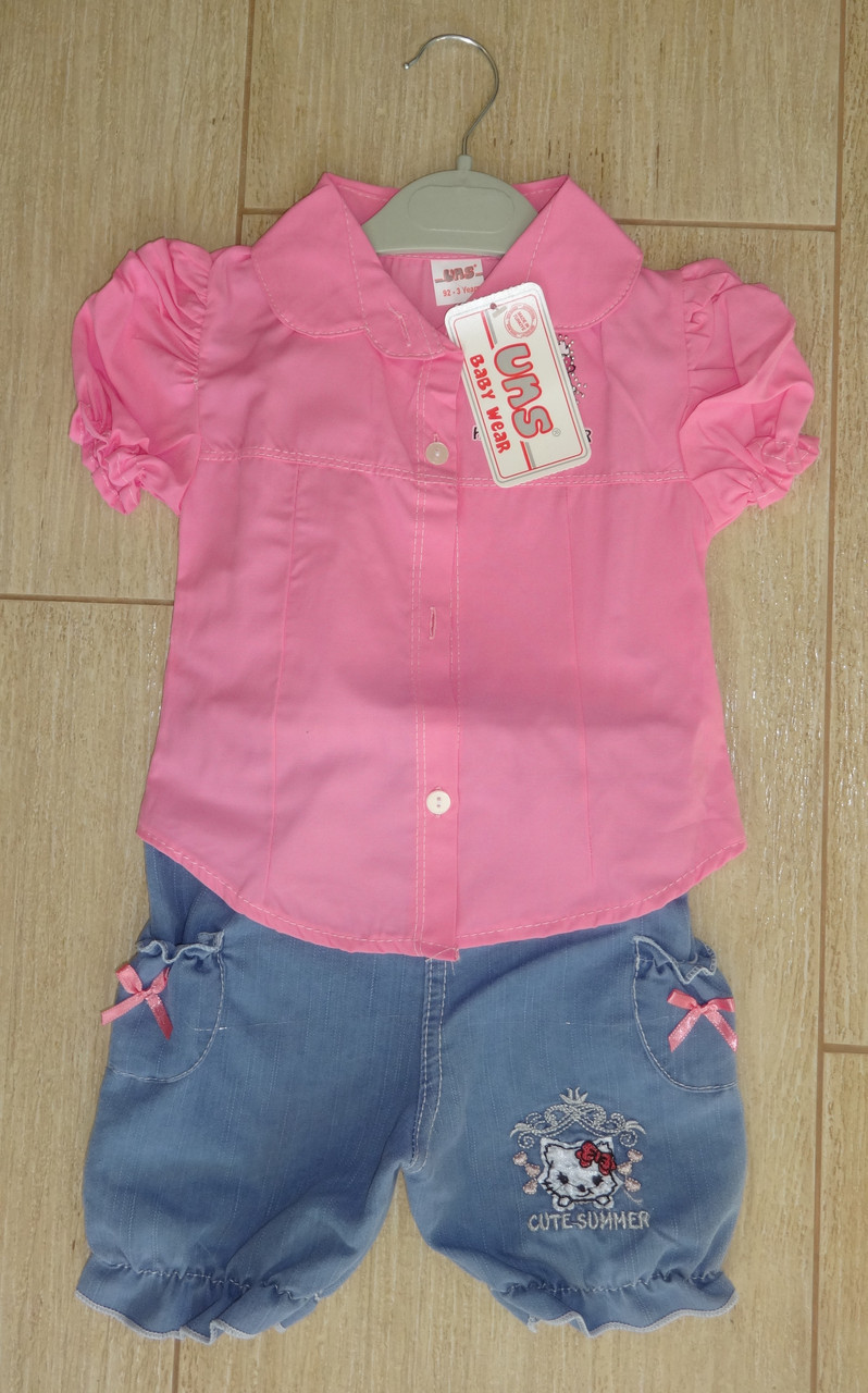 Комплект на девочку Китти с рубашкой