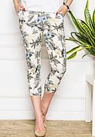 Женские короткие узкие брюки (8818 br)