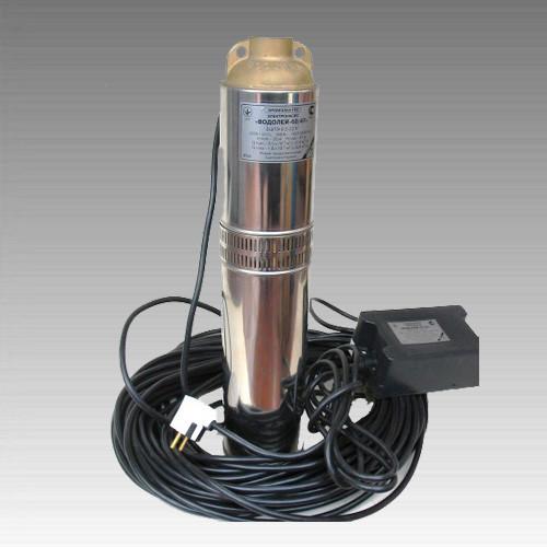 Погружной насос Водолей БЦПЭ -0,5-80У (Бытовой); 1,8-3,6 м.куб/ч; h=80 м; Ø105мм