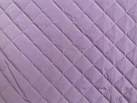 Плащевая ткань Лаке стеганая на синтепоне с подложкой на флизелине Светло Сиреневая