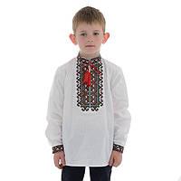 """Вышиванка для мальчика """"Михайло"""" на домотканом полотне с украинским орнаментом"""