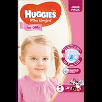Підгузники Huggies Ultra Comfort для дівчаток 5 (12-22) 42 шт.