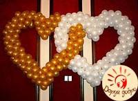 №4 Двойное сердце из шаров 1.5м+1.5м Днепр