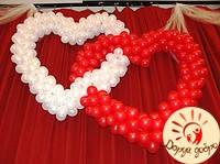 №3 Двойное сердце из шаров 1.5м+1.5м Днепр
