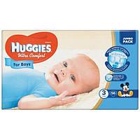 Подгузники Huggies Ultra Comfort для мальчиков 3 (5-9) 56 шт.
