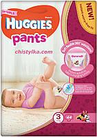 Трусики-підгузники Huggies Pants для дівчаток 3 (6-11 кг) 44 шт.