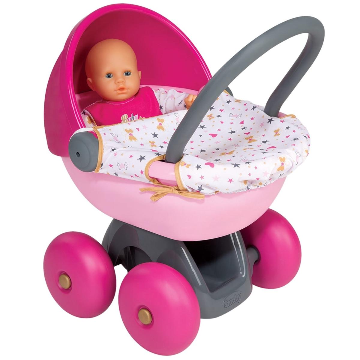 Коляска с люлькой для куклы пупса Baby Nurse Smoby 220312