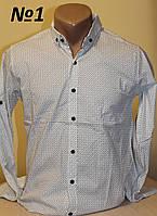 Мужская рубашка с узором Sayfa длинный рукав