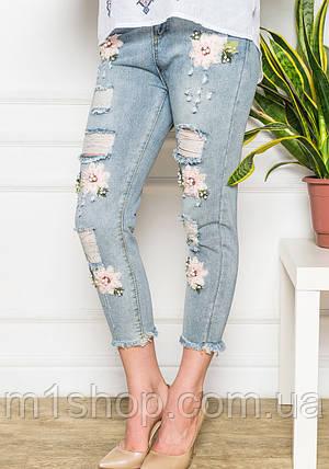b5f49a29ddc Женские укороченные рваные джинсы (8035 br ) купить недорого ...