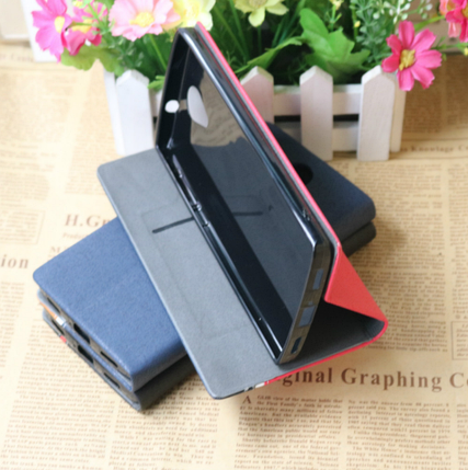 Чехол книжка для Ergo A550 Maxx Dual Sim темно синяя, фото 2