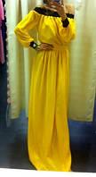 Платье в пол с гипюром