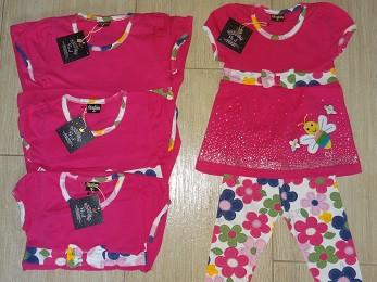 Комплект туника со штанами розовый