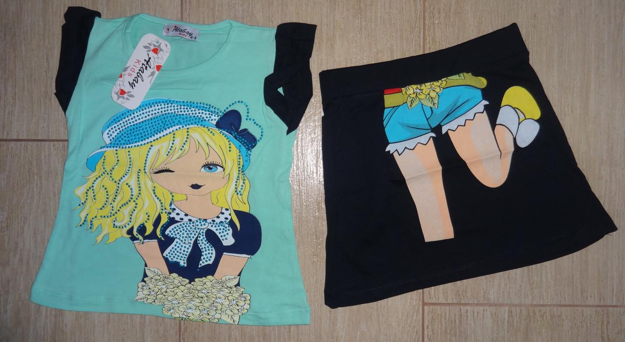 Комплект на девочку юбка и туника