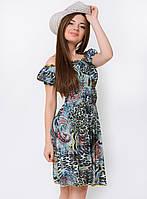 Летнее женское платье-трансформер с ярким принтом 90114/5