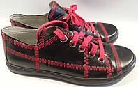 Туфли женские натуральная кожа р36 LARUS 01 черные VADD