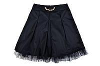 """Школьная юбка """"Колокол""""  черная"""