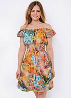 Летнее женское платье-трансформер с ярким принтом 90114/6