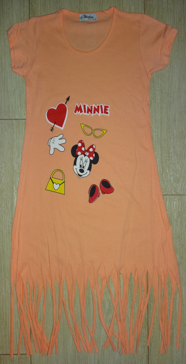 Платье-туника оранж Мини-Маус