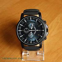 Мужские оригинальные наручные кварцевые часы Yazole-322 черный ремешок