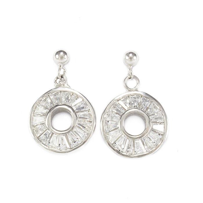 Серебряные сережки-гвоздики с фианитами Арт. ER002SV