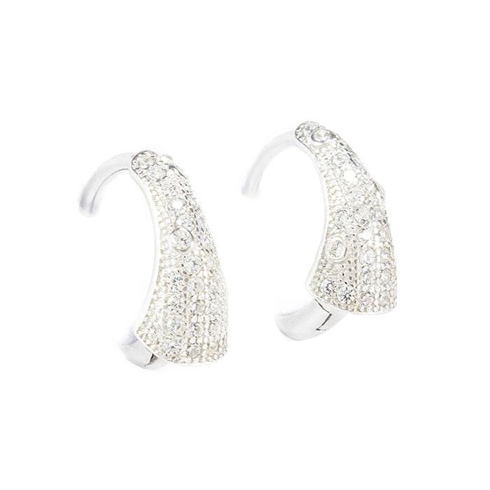 Серебряные сережки с фианитами Арт. ER003SV