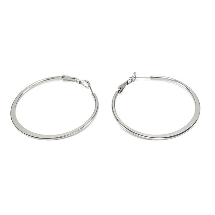 Сережки-кольца серебристые Арт. ER087SL