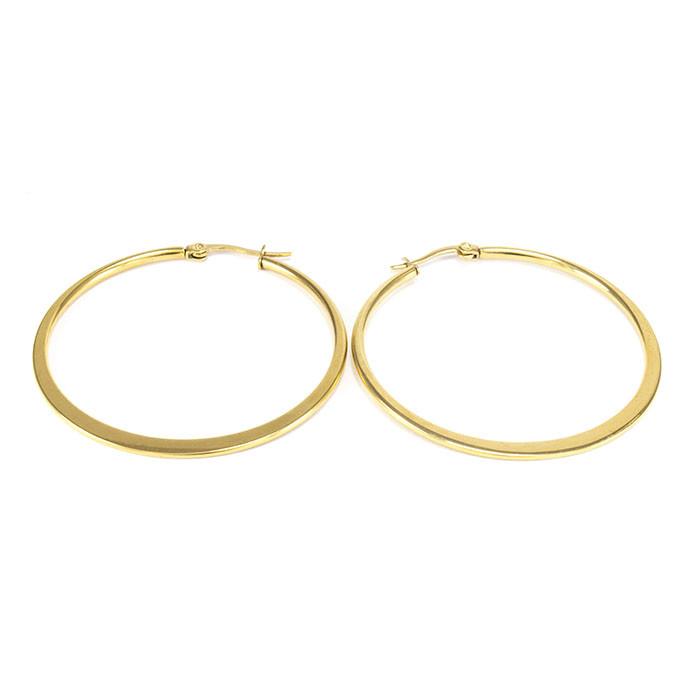 Сережки-кольца золотистые диаметр 46мм Арт. ER088SL